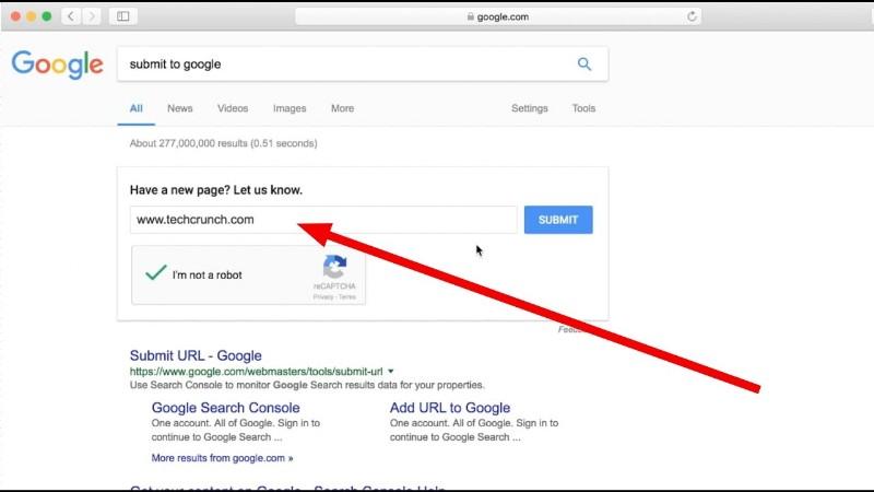indicizzare sito web su google
