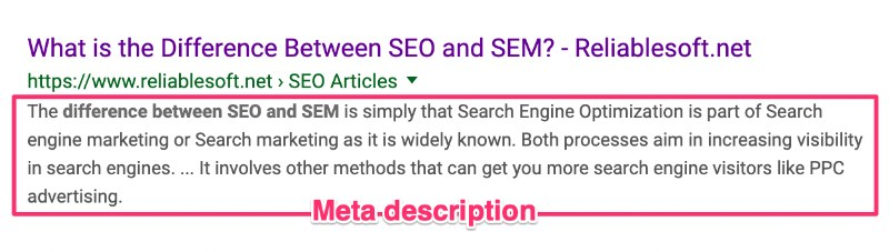 meta description esempio